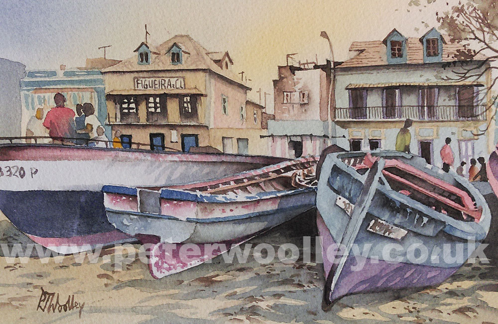 2015-01-18 Boats in Mindelo2 - PAINTING