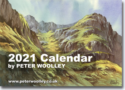 2021 Calendar featuring paintings by Peter Woolley