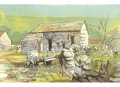 Hay Close Barn, Cray - Yorkshire Dales scene